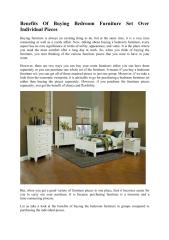 Benefits of Buying Bedroom Furniture Set Over Individual Pieces 2.pdf