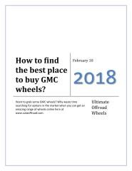 How to find the best place to buy GMC wheels.pdf