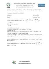 2ª prova parcial de álgebra linear 1 2013 - física - sist. de informação.pdf