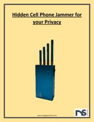 Cell Phone Jammer Privacy.pdf