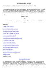 LEALDADE E DESLEALDADE - Resumo do livro..doc