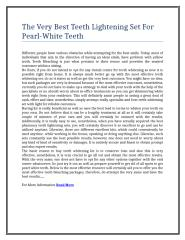 14The Very Best Teeth Lightening Set For Pearl-White Teeth.doc