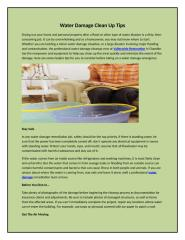 Water Damage Clean Up Tips.docx