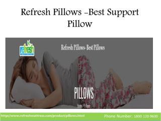 Refresh Pillows -Best Support Pillow.pdf