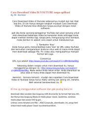 Panduan Cara Download Video Di YOUTUBE tanpa aplikasi by Mr.bomber