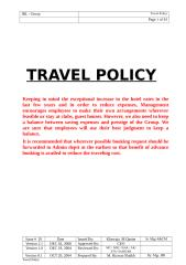 Travel Policy - Issue 20 (Revised on dated 08-10-08).doc