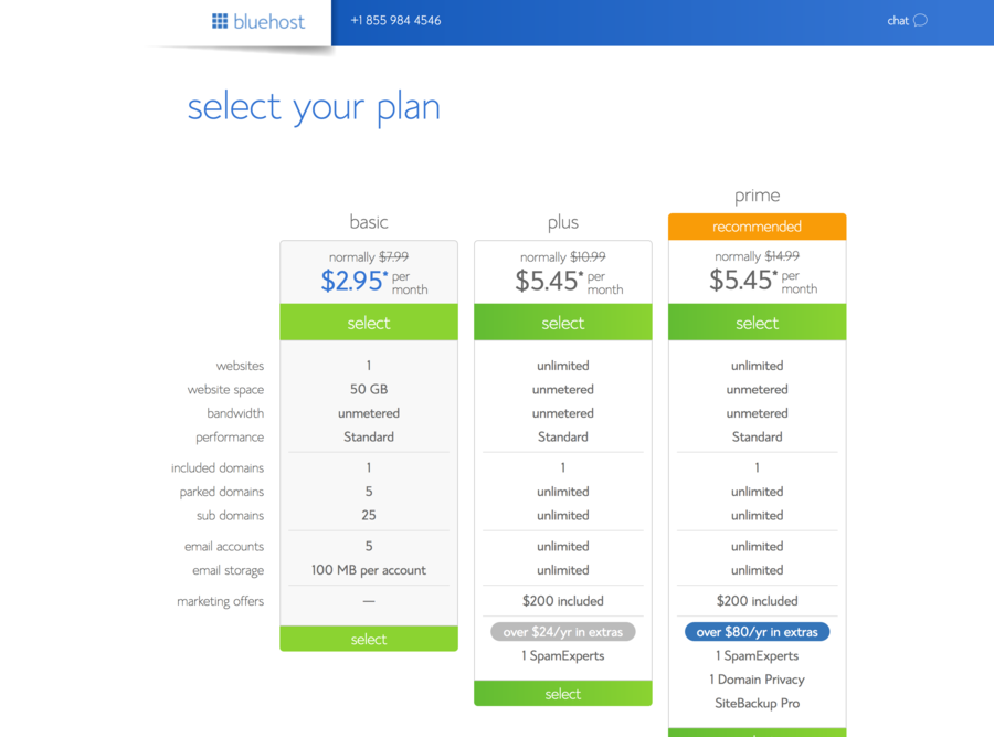 Bluehost-Select-Plan