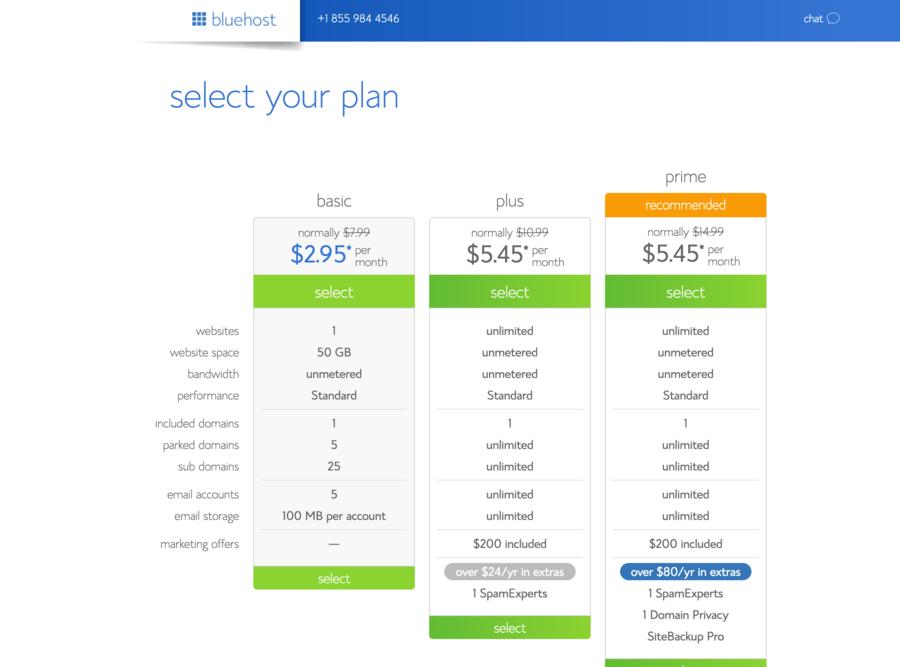Bluehost-Select-Plan