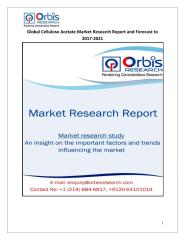 Global Cellulose Acetate Market Research Report and Forecast to 2017-2021.pdf