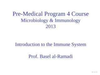 Pre-med 4 -  Introduction to IS - 2013.pptx