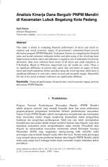Analisis Kinerja Dana Bergulir PNPM Mandiri.pdf