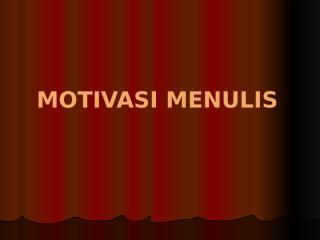 motivasi menulis.pptx