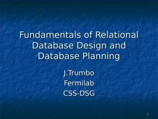 fundamentals of relational database design.ppt