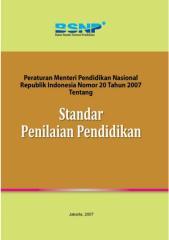 Permendiknas No.20 Th 2007 ttg Standar Penilaian Pendidikan.pdf