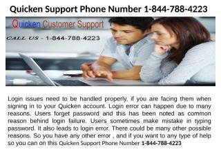 Quicken Help Desk Suppor 1-844-788-4223.pptx