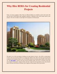 Why Hire RERA for Creating Residential Projects.pdf